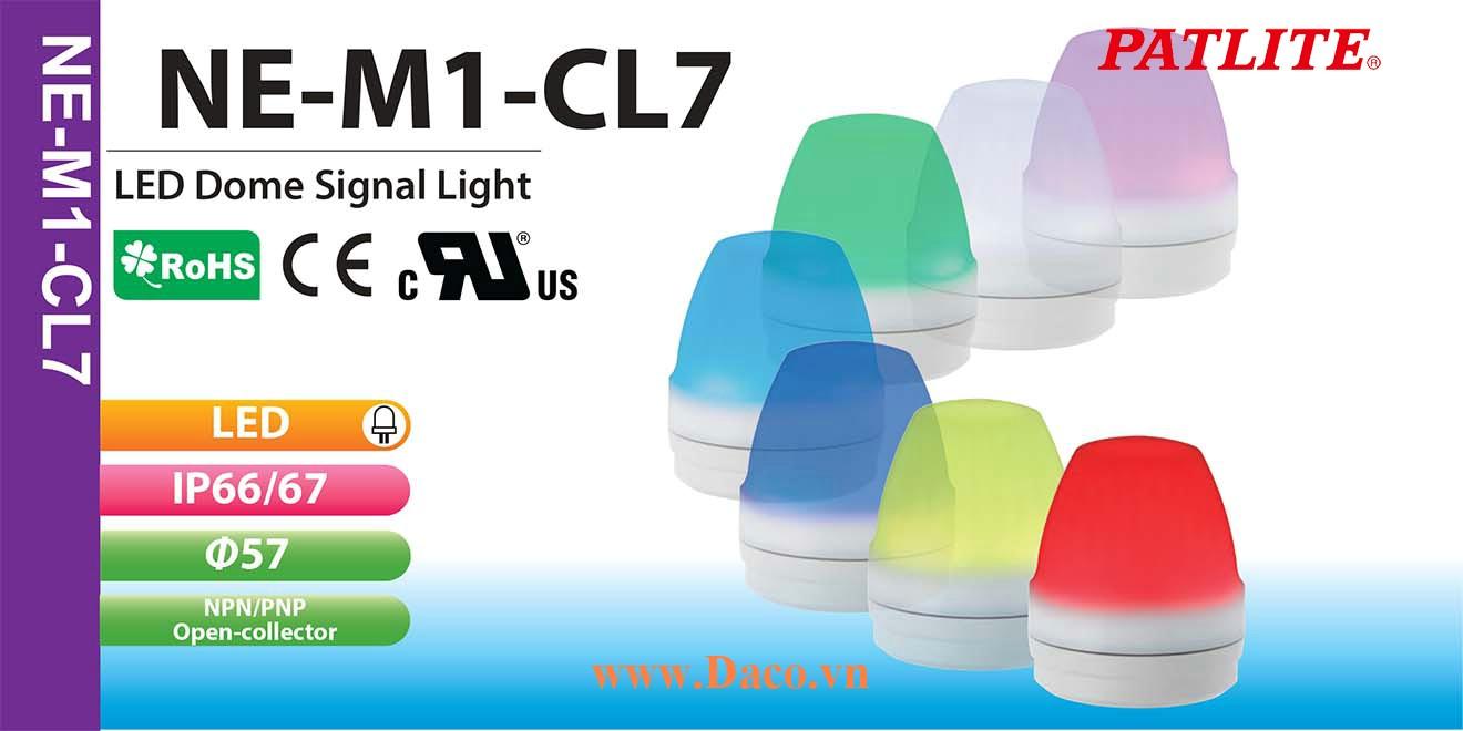 NE-M1-CL7 Đèn báo hiệu 7 màu Patlite Φ57 Bóng LED IP66/IP67