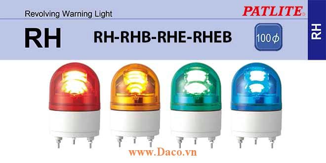 RH-R-Y-G-B Nắp đèn quay RH-RHB-RHE-RHEB-WH Φ100 Patlite