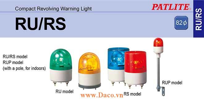 RU-R-Y-G-B Nắp đèn quay RU/RS Φ82 Patlite
