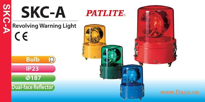 SKC-220A-R Đèn quay báo hiệu Patlite Φ187 Bóng Sợi đốt IP23 110VAC~120VAC