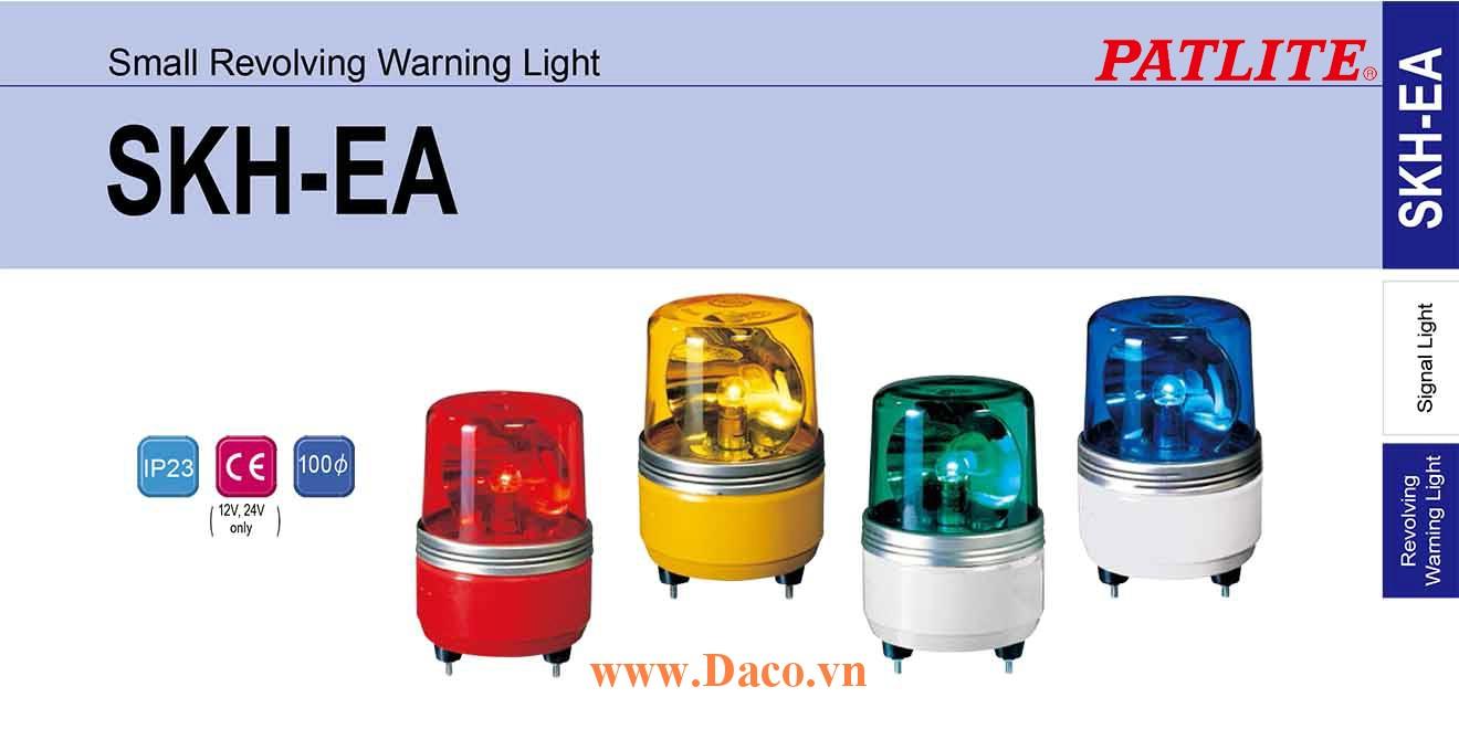 SKH-200EA-B Đèn quay báo hiệu Patlite Φ100 Bóng Sợi đốt IP23