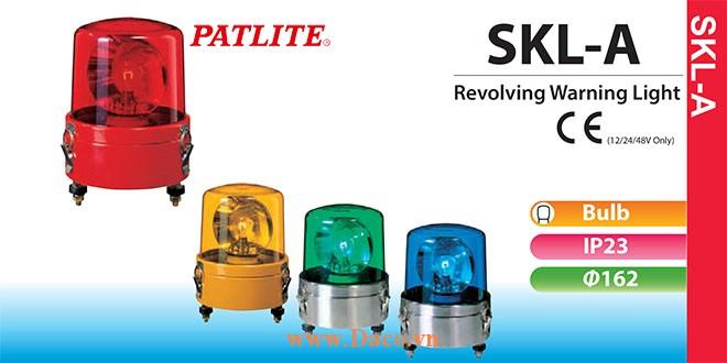 SKL-102ACSAA-R Đèn quay báo hiệu Patlite Φ162 Bóng Sợi đốt IP23 24VAC