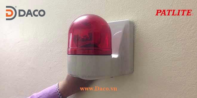 WH Hình ảnh thực tế Đèn báo hiệu tín hiệu cảnh báo gắn tường Patlite
