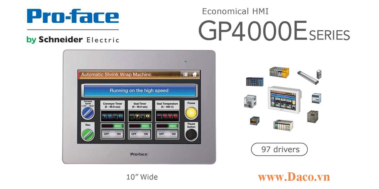 PFXGP4502WADW Màn hình cảm ứng HMI Proface GP4000E 10 Inch Màu RS232, RS422, RS485, LAN, USB