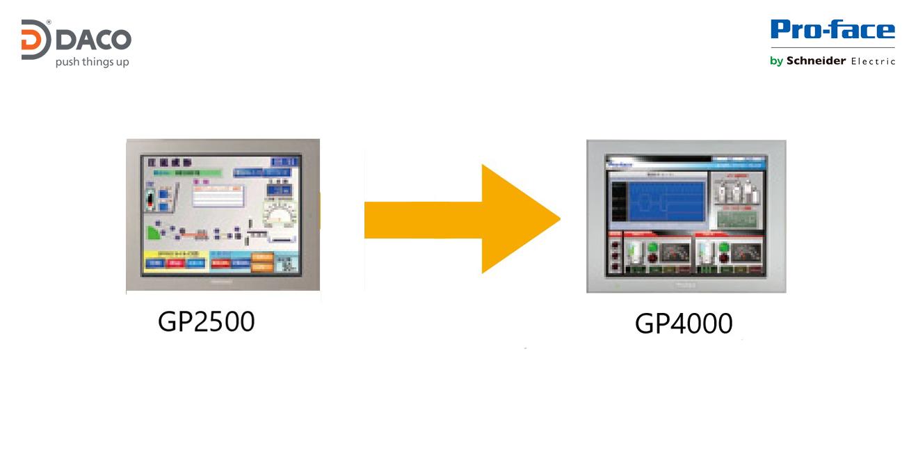 CÁCH CHUYỂN ĐỔI HMI PROFACE TỪ GP2500 SERIES SANG GP4000 SERIES