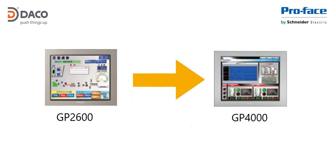 CÁCH CHUYỂN ĐỔI HMI PROFACE TỪ GP2600 SERIES SANG GP4000 SERIES
