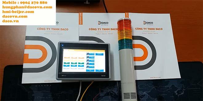 Màn hình cảm ứng HMI Beijer Điều khiển đèn tháp Ethernet Qlight Qua mạng LAN-Video