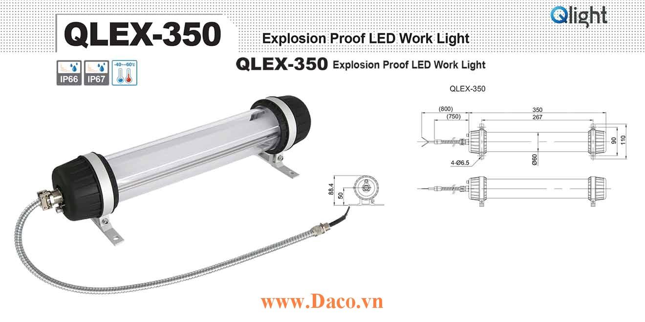 QLEX-350-24 Đèn LED chống dầu máy công cụ phòng nổ 350mm Bóng LED  IP66/IP67-KCs-NEPSI