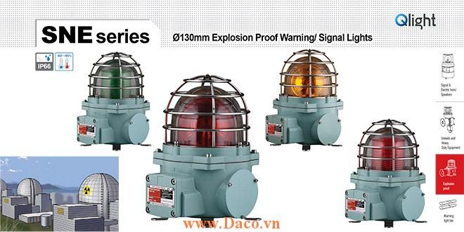 SNEL-220-A Đèn phòng nổ báo hiệu Qlight Φ152 Bóng LED Nhấp nháy IP66-IECEx-ATEX-NEPSI-KIMM