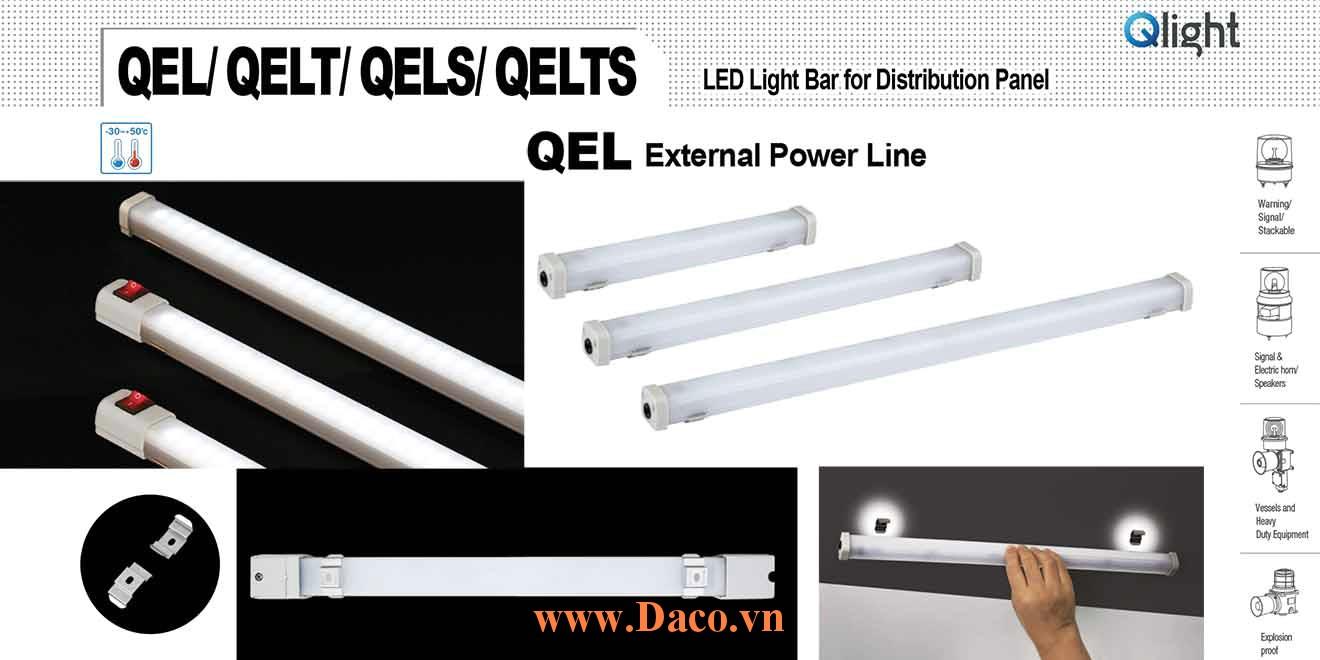 QELTS-500 Đèn LED chiếu sáng tủ điện Qlight, Công tắc ON/OFF Bóng LED Dài 500 mm