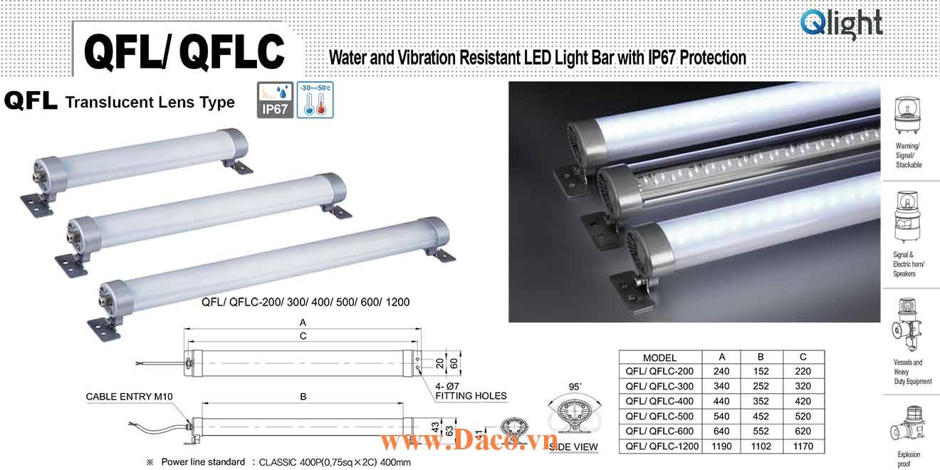 QFL-1200-220 Đèn LED chiếu sáng chống nước, chống rung Qlight IP67