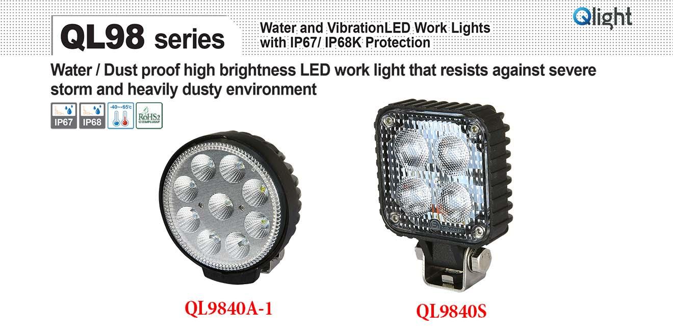 QL9840S-4 Đèn LED chiếu sáng chống nước chống bụi Qlight 12VDC~24VDC, IP67
