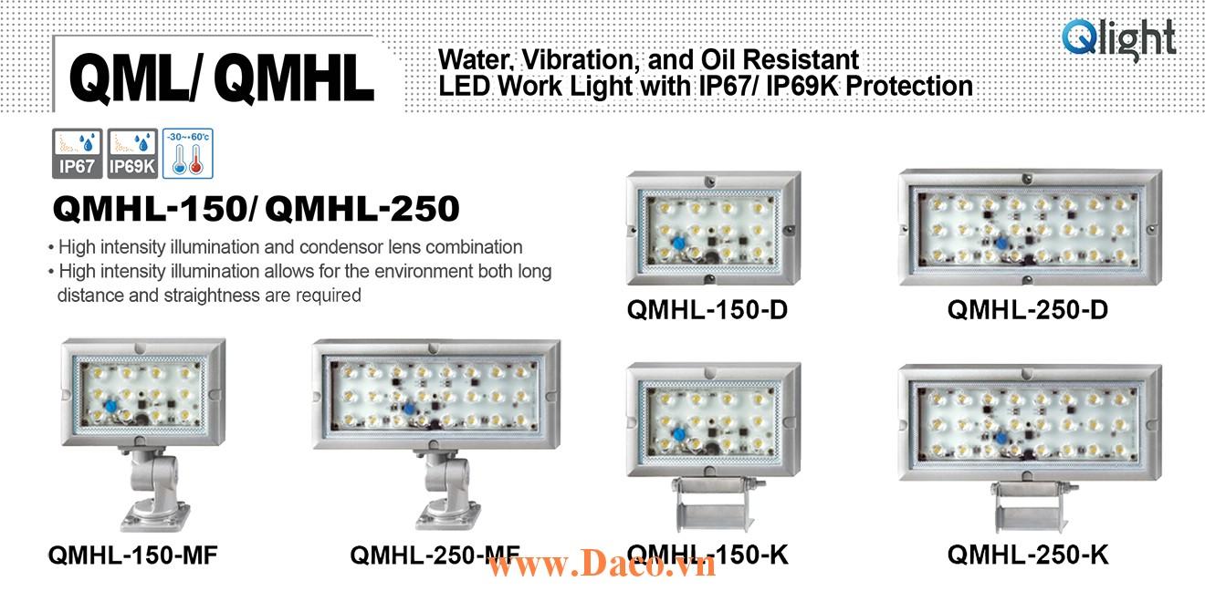 QMHL-250-24-MF Đèn LED chiếu sáng chống nước, chống dầu, chống rung Qlight IP67