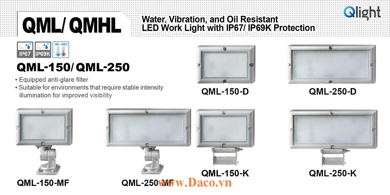 QML-250-K-24 Đèn LED chiếu sáng chống nước, chống dầu, chống rung Qlight IP67
