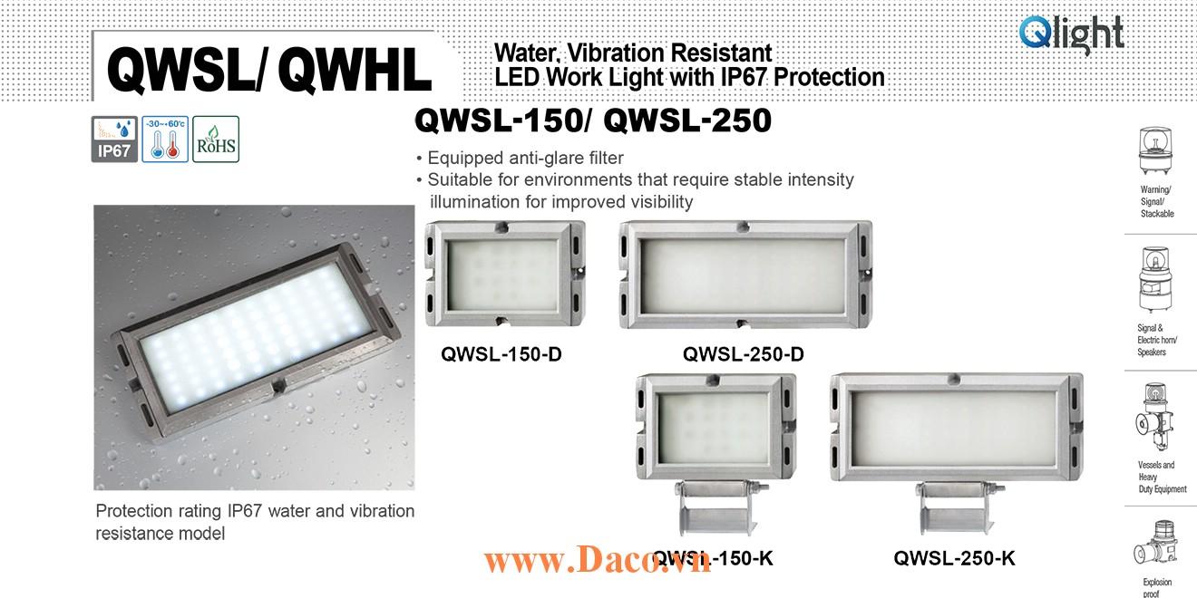 QWHL-250-K-24 Đèn LED chống nước máy công cụ 250 Bóng LED 250 mm IP67