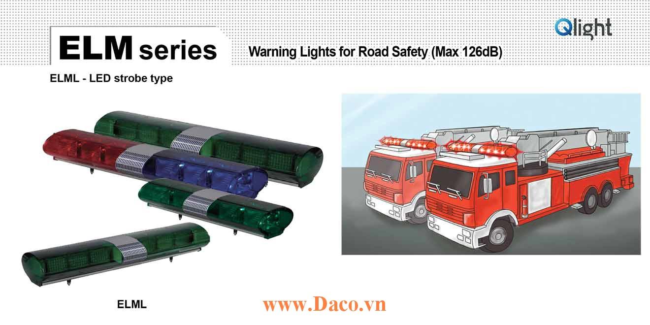 ELML-5-12-AA Đèn hộp lightbar xe ưu tiên Qlight 1708mm Bóng LED 126dB Speaker IP56