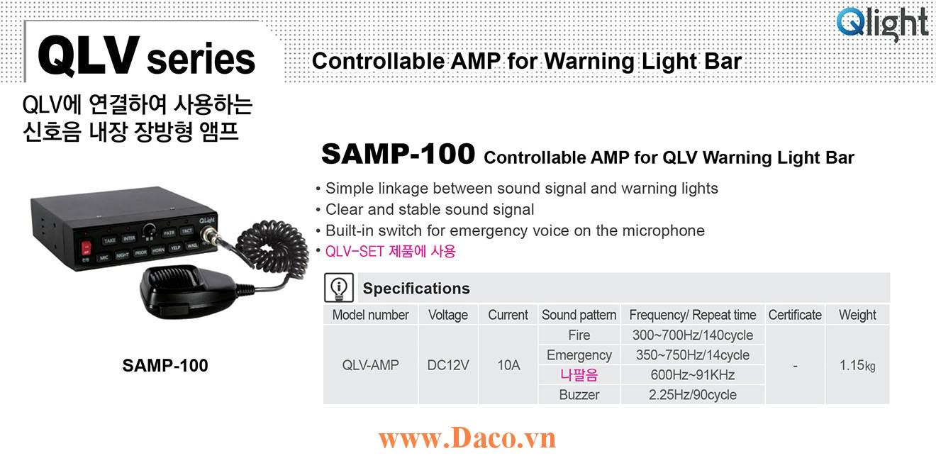 SAMP-100-12 Bộ tạo tín hiệu còi hú xe ưu tiên Qlight 12VDC, 135dB, 100W