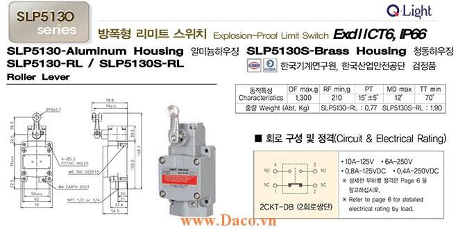 Công tắc hành trình SLP5130-RL Qlight Phòng nổ ExdIICT6, IP67, KIMM, KOSHA