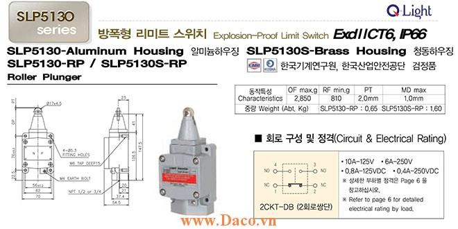 Công tắc hành trình SLP5130-RP Qlight Phòng nổ ExdIICT6, IP67, KIMM, KOSHA