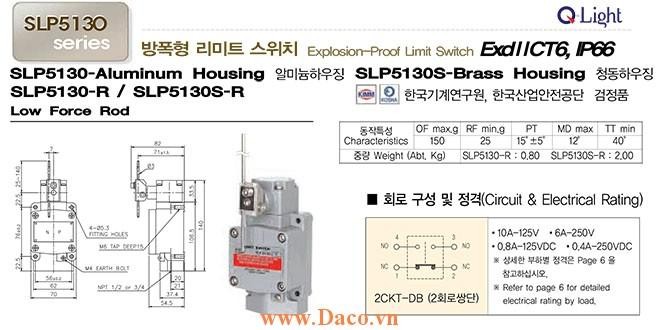 Công tắc hành trình SLP5130-R Qlight Phòng nổ ExdIICT6, IP67, KIMM, KOSHA