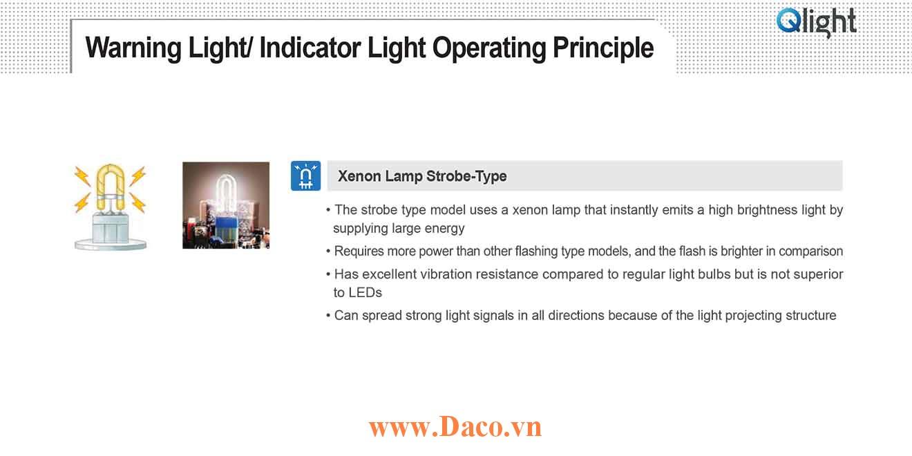 Bóng Xenon Qlight cho đèn cảnh báo tín hiệu, đèn tháp, đèn tầng Qlight