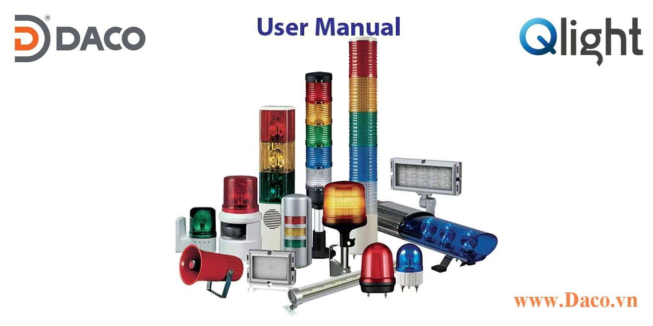 Hướng dẫn sử dụng sản phẩm Đèn loa còi báo hiệu Qlight