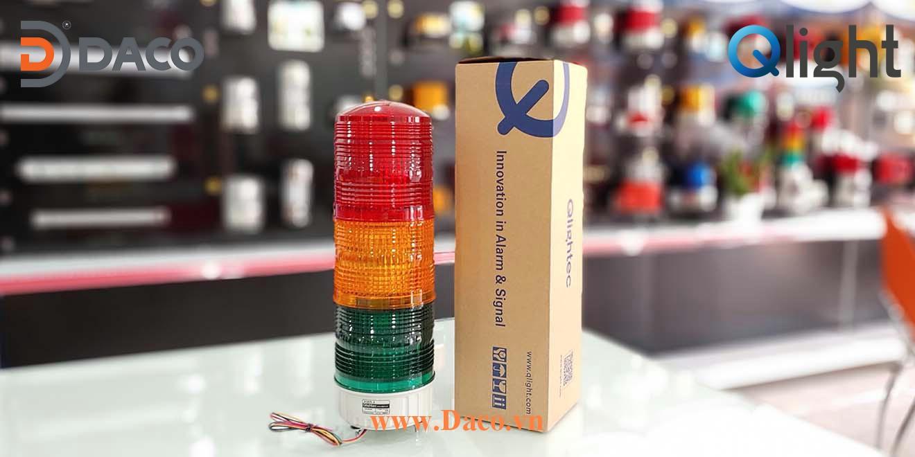 S125TL Hình ảnh thực tế Đèn tháp báo hiệu 1-2-3-4-5 tầng màu Qlight Hàn Quốc Φ125