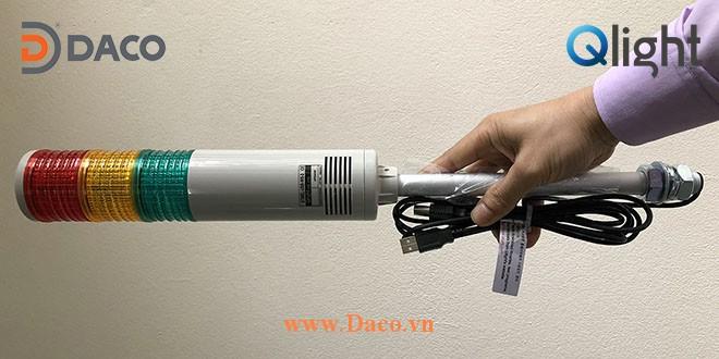 ST56EL-USB Thuc Te-Hình ảnh thực tế sản phẩm Đèn tháp kết nối điều khiển qua USB Φ56 Qlight