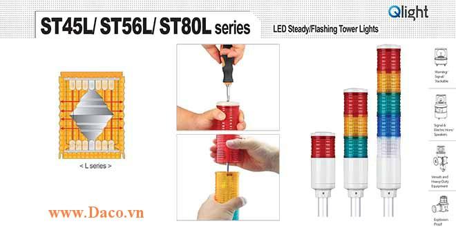 ST80L-R-A-G-B-W Module tầng màu đèn tháp Φ80 ST80L Qlight
