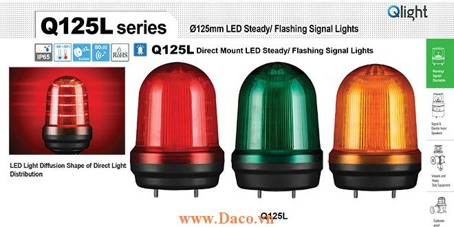 Q125L-BZ-110/220-A Đèn cảnh báo Qlight Φ125 Bóng LED 110VAC~220VAC IP44
