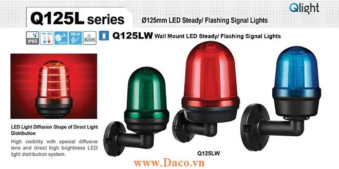 Q125LW-BZ-110/220-A Đèn cảnh báo Qlight Φ125 Bóng LED 110VAC~220VAC IP44