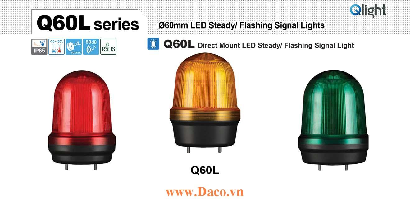 Q60L-BZ-110/220-A Đèn cảnh báo Qlight Φ60 Bóng LED 110VAC~220VAC IP44