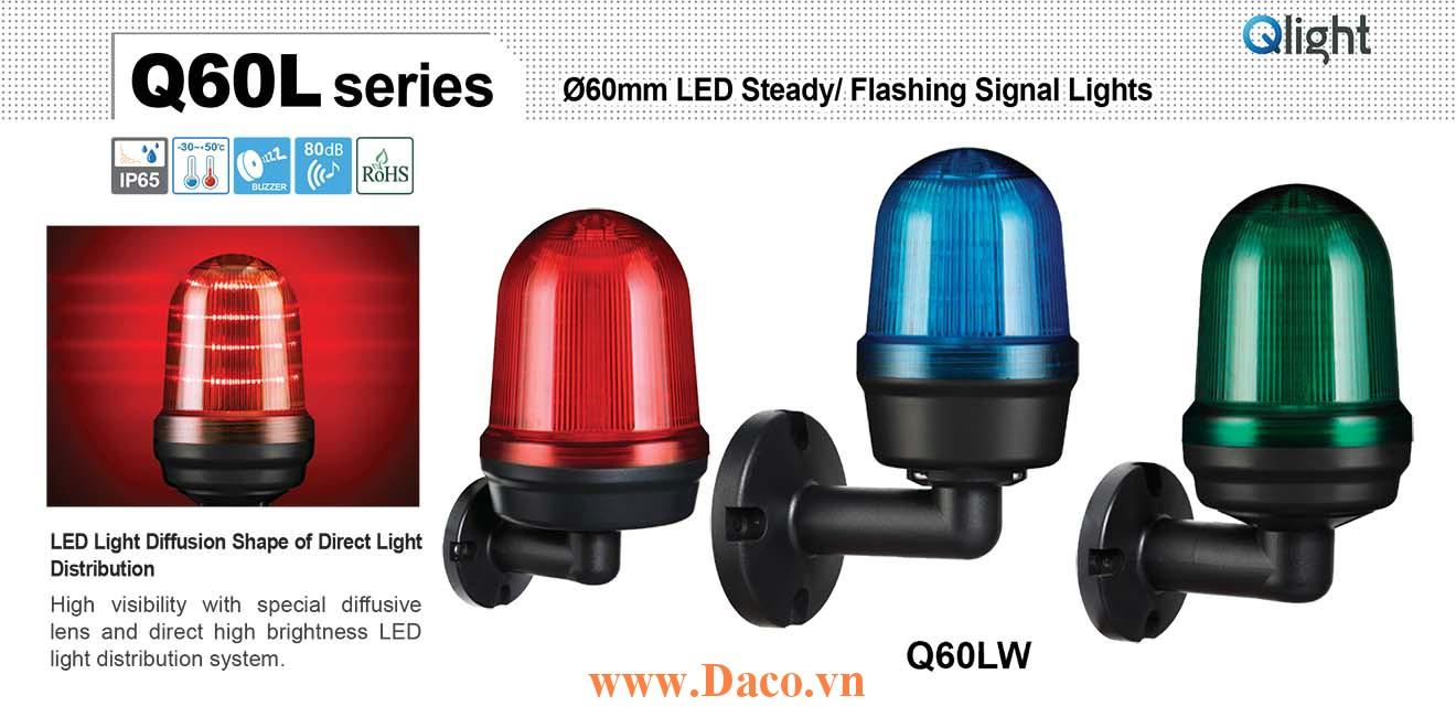 Q60LW-BZ-110/220-A Đèn cảnh báo Qlight Φ60 Bóng LED 110VAC~220VAC IP44