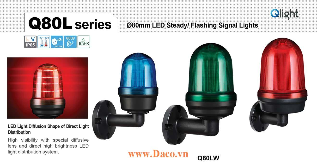 Q80LW-BZ-110/220-A Đèn cảnh báo Qlight Φ80 Bóng LED 110VAC~220VAC IP44