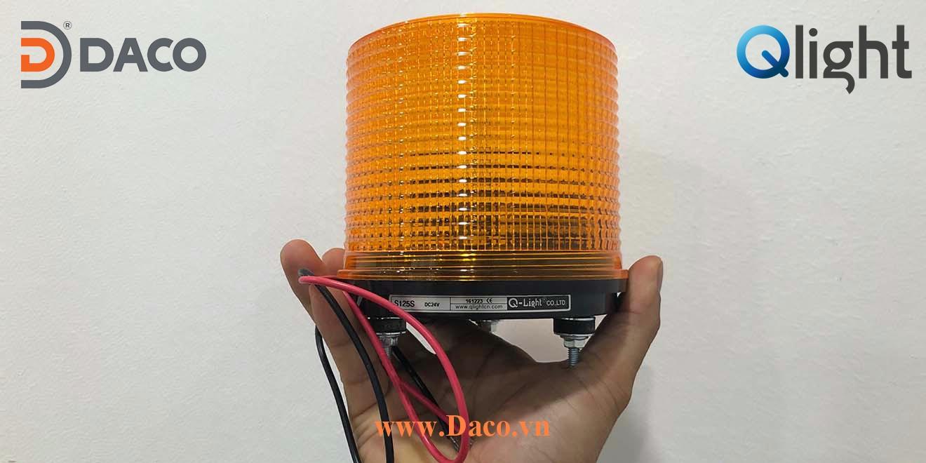 S125S Hình ảnh thực tế Đèn cảnh báo tín hiệu Qlight Hàn Quốc Φ125