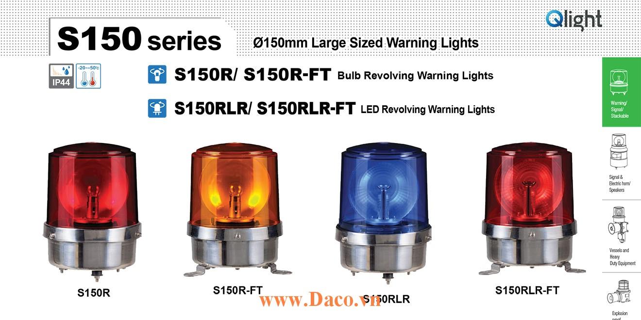 S150RLR-FT-220-A Đèn quay tín hiệu Qlight Φ150 Bóng LED 220VAC IP44