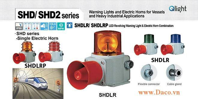 SHDLRP-WM-220-B-LC Đèn quay có loa Qlight Hàng hải Φ135 Bóng LED 5 âm melody 118dB IP66, KIM, ABS