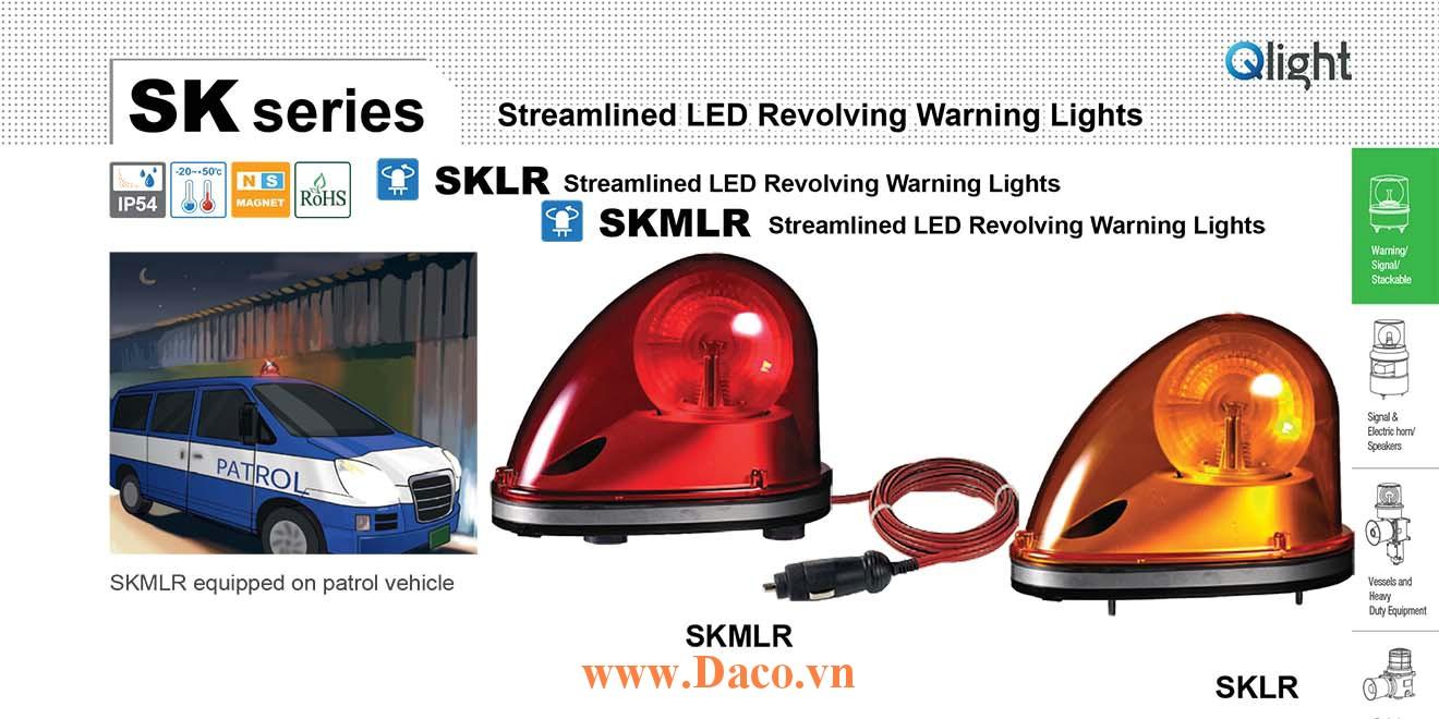 SKMLR-24-B Đèn quay mai rùa cho xe Qlight 183x124x135 Bóng LED 24VDC IP54