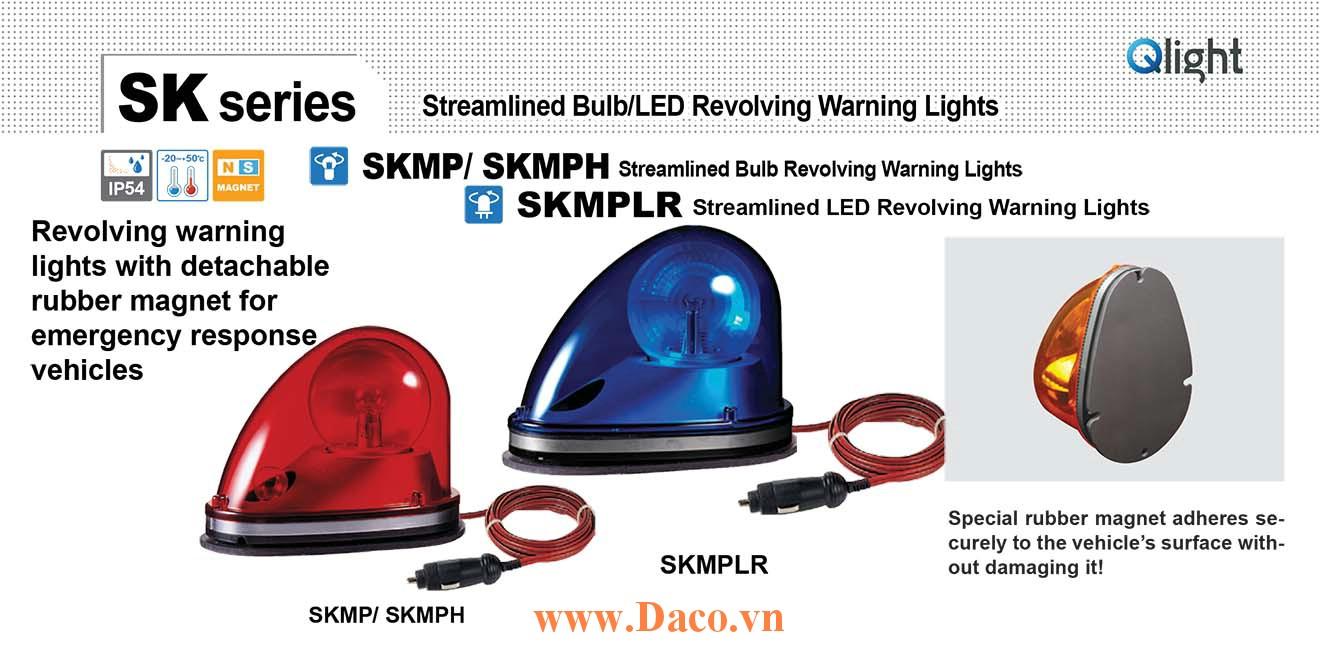 SKMPLR-24-Y Đèn quay mai rùa cho xe Qlight 192x128x142 Bóng LED 24VDC IP54