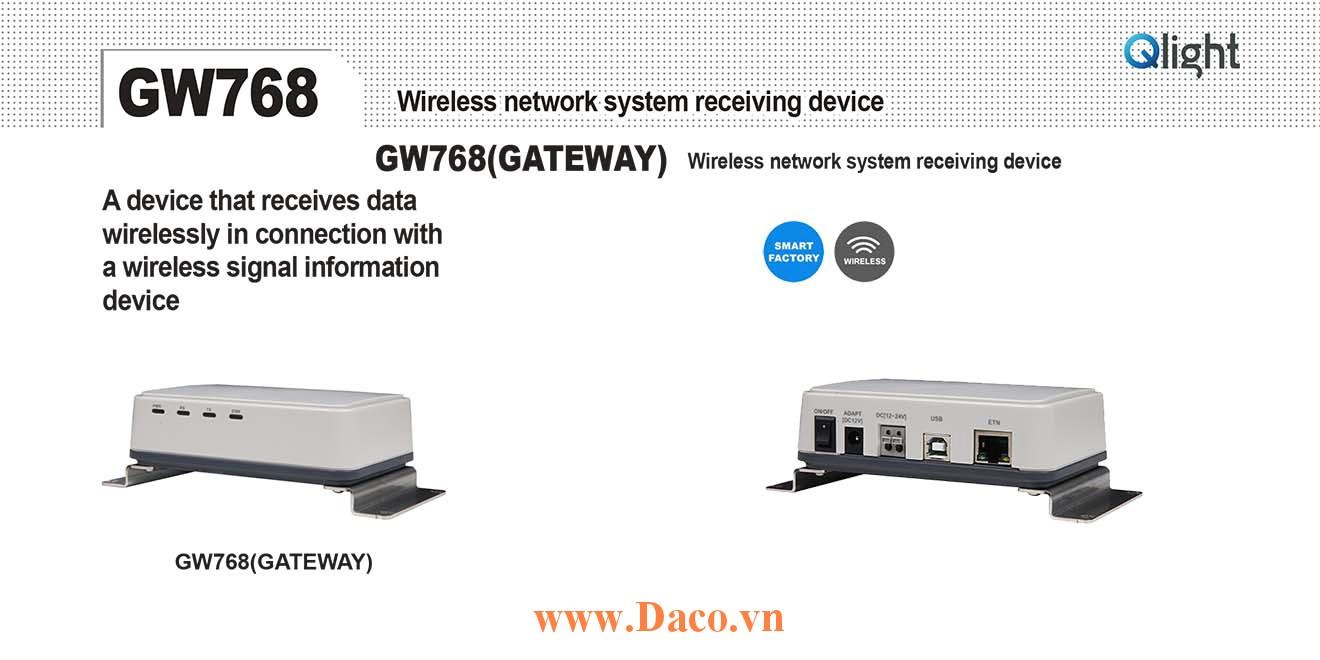 GW768-12/24 Bộ thu phát tín hiệu không dây Qlight 12/24VDC