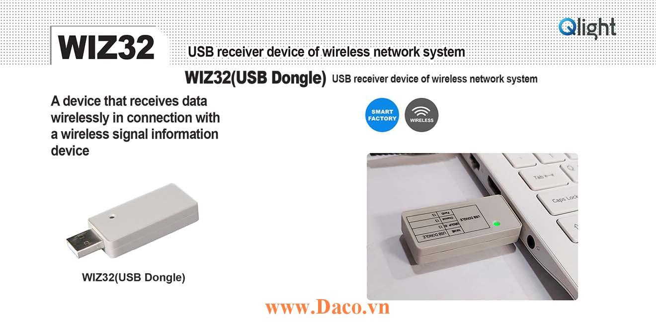 WIZ32 USB thu phát tín hiệu không dây Qlight