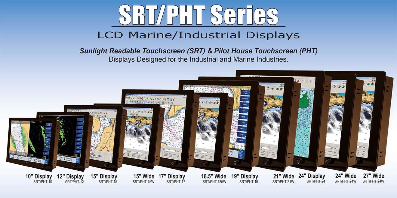 Marine LCD-SRT-PHT-W Màn hình cảm ứng hiển thị công nghiệp hàng hải-Màn rộng Seatronx