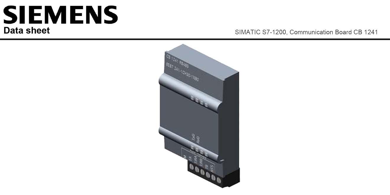 S7-1200 Communication Board Bảng mạch truyền thông S7-1200 Siemens
