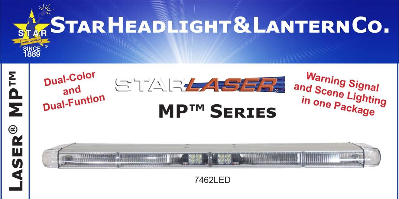 Đèn Lightbar dài xe ưu tiên Laser MP LED LightBar Star Headlight 56-117-132 cm