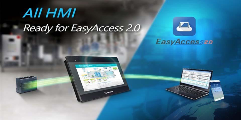 Truy cập từ xa EasyAccess 2.0 áp dụng cho tất cả các HMI của Weintek