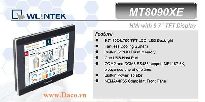 MT8092XE Màn hình cảm ứng HMI Weintek MT8000XE 9.7 Inch Màu RS232, RS422, RS485, LANx2-CE, ATEX Zone 2