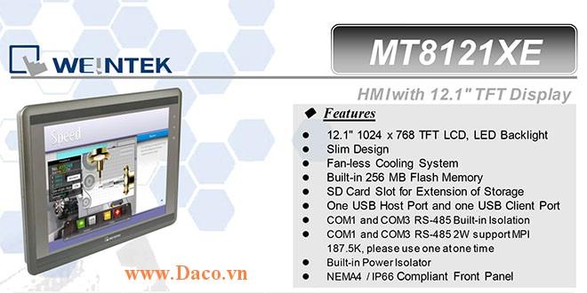 MT8121XE1 Màn hình cảm ứng HMI Weintek MT8000XE 12 Inch Màu RS232, RS422, RS485, LAN-CE