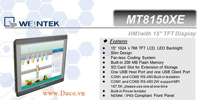 MT8150XE Màn hình cảm ứng HMI Weintek MT8000XE 15 Inch Màu RS232, RS422, RS485, LAN-CE, ATEX Zone 2