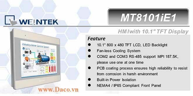MT8101iE Màn hình cảm ứng HMI Weintek MT8000iE 10 Inch Màu RS232, RS422, RS485, LAN