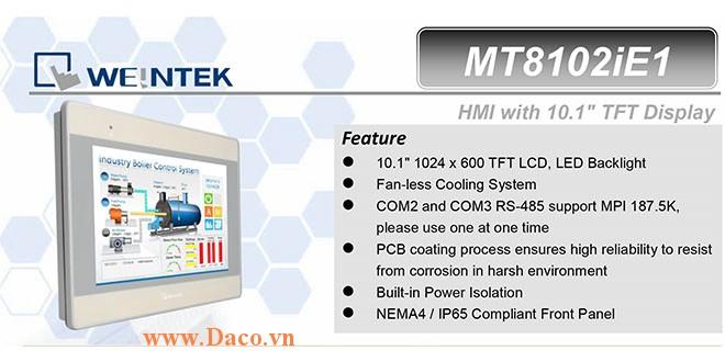 MT8102iE Màn hình cảm ứng HMI Weintek MT8000iE 10 Inch Màu RS232, RS422, RS485, LAN